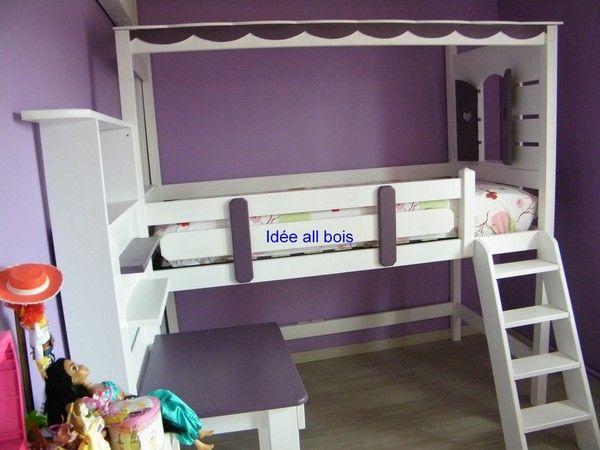 livraison de lits with chambre cabane fille. Black Bedroom Furniture Sets. Home Design Ideas