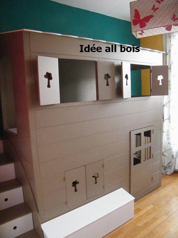 lit cabane superpos. Black Bedroom Furniture Sets. Home Design Ideas