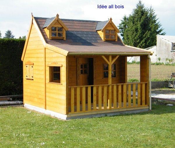 Cabane enfant id e all bois page 26 for Modele petit jardin maison