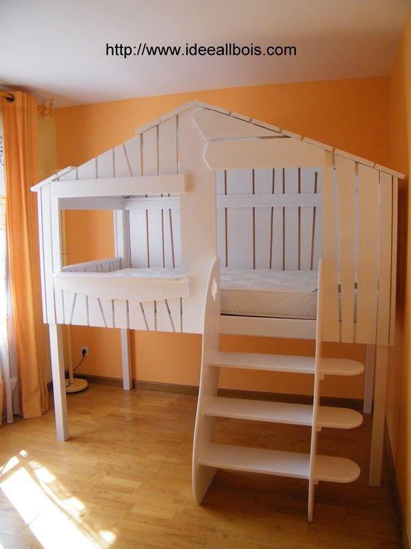 plan lit cabane stunning le fabricant propose galement des cabanes de jeux ainsi que des tagres. Black Bedroom Furniture Sets. Home Design Ideas