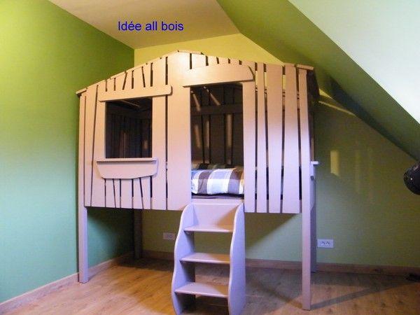 chambre cabane enfant chambre bleu pour bebe fille chambre fille cabane lit cabane enfant. Black Bedroom Furniture Sets. Home Design Ideas