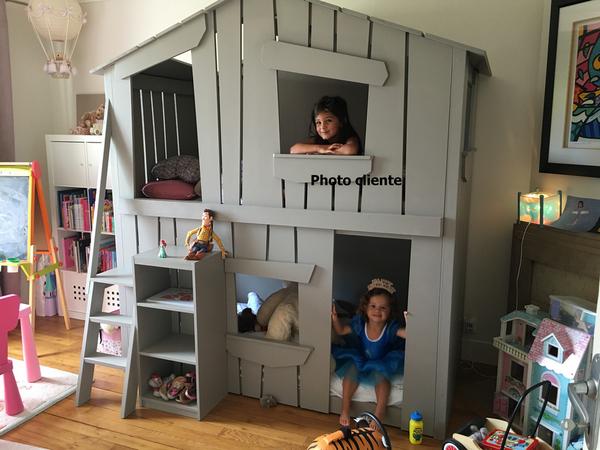 cabane enfant id e all bois. Black Bedroom Furniture Sets. Home Design Ideas